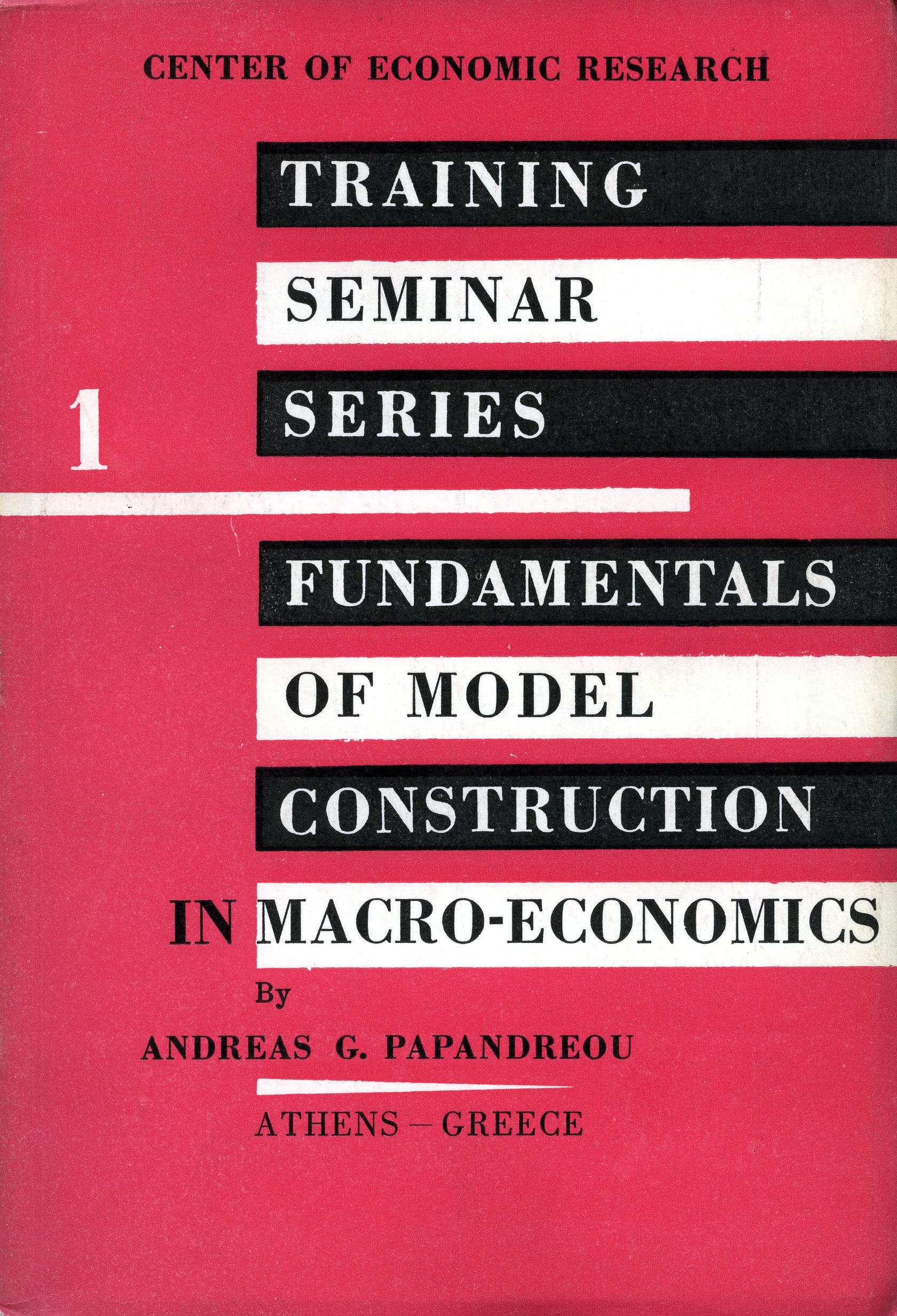 Fundamentals of model construction in macro-economics exof